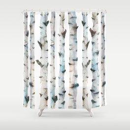 Birch tree Pattern Shower Curtain