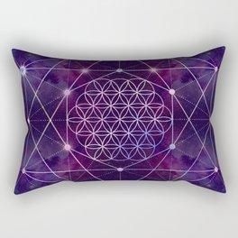 Flower of Life on Nebula - star sky Rectangular Pillow