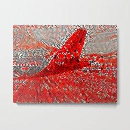Belgian Sunset Airliners Metal Print