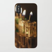 jewish iPhone & iPod Cases featuring Chanukah (Hanukkah) Menorah - Jewish Holiday by allisonpink