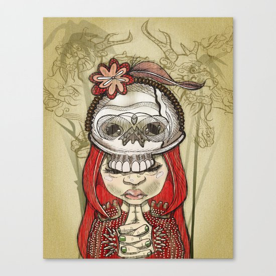 i wear my lucky skull Canvas Print