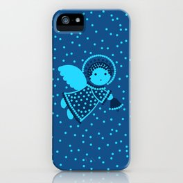 Angels on the deep blue iPhone Case