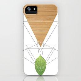 Geometric Leaf iPhone Case