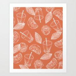 summer vibes and caesars Art Print