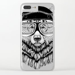 Grizzly Bear Speed Rebel Clear iPhone Case