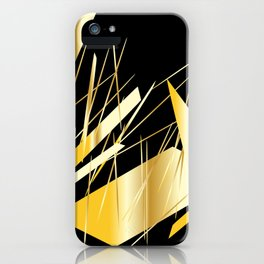 golden treasure abstract geometrical art iPhone Case