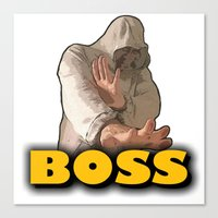 boss Canvas Prints featuring BOSS  by Robleedesigns