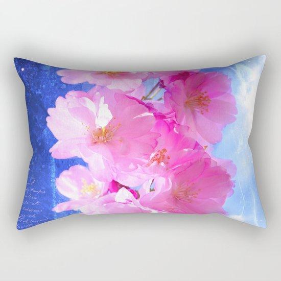 Japanese ornamental cherry Rectangular Pillow