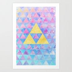 Zelda Geometry Art Print