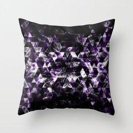 Triangle Geometric Purple Smoky Galaxy pattern Throw Pillow