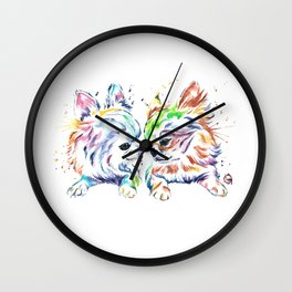 Chihuahuas - Chihuahua Love Wall Clock