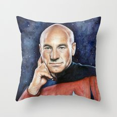 Captain Picard Throw Pillow