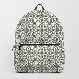 Spanish Tile Pattern – Andalusian ceramic from Seville Backpack