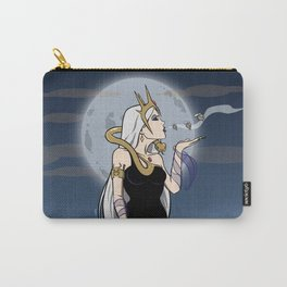 Kiss of Death - Evil Queen Blowing Kisses (Skulls with Wings) Carry-All Pouch