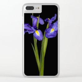 Pretty Iris Clear iPhone Case