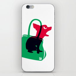 Angry animals: chihuahua - little green bag iPhone Skin