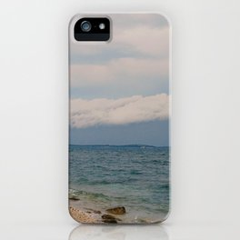 thunderstorm approaching at peroj beach croatia istria iPhone Case