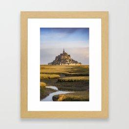 Mont Saint-Michel at sunrise - France Framed Art Print