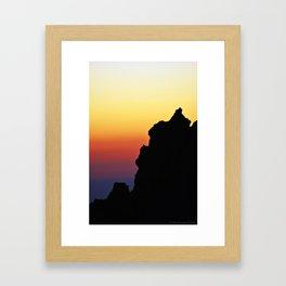 L'alba dal Gran Sasso Framed Art Print