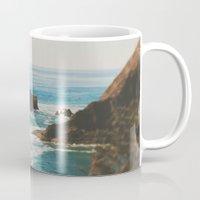 oregon Mugs featuring Oregon Coast by Leah Flores
