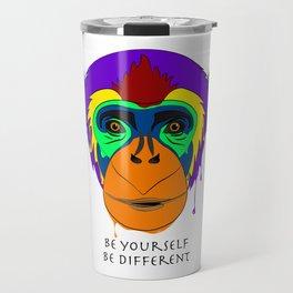 Be yourself, be different - chimpanzee Travel Mug