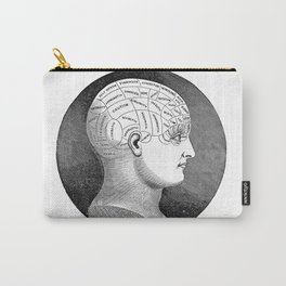 Vintage Phrenology Head Carry-All Pouch