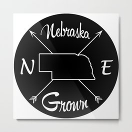 Nebraska Grown NE Metal Print
