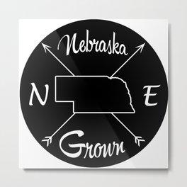 Nebraska Grown NE Metal Print