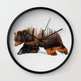Travelling Bear Wall Clock