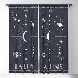 The Moon or La Lune Tarot Blackout Curtain
