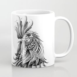 Ornately Decorated Rooster Coffee Mug