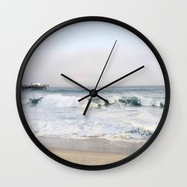 Crashing waves & hazy skies Wall Clock