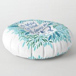 Zelda Fitzgerald – Blue on White Floor Pillow