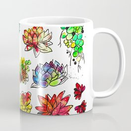 Watercolor Succulents Coffee Mug