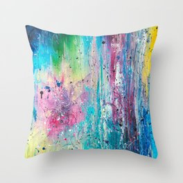 Birth of purple star Throw Pillow