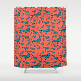 Vinney the Whale Shower Curtain