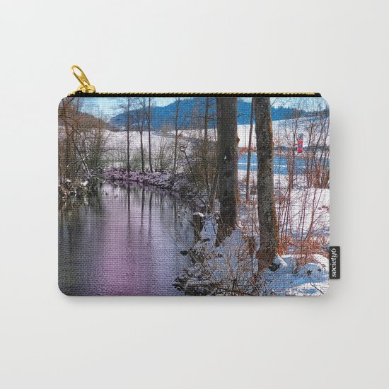 Quiet river in winter time Carry-All Pouch