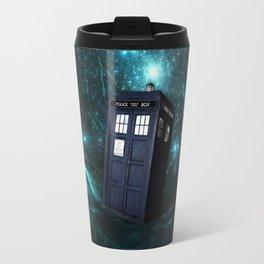 Flying Tardis on Space Travel Mug