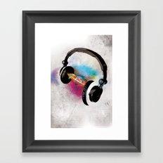feeling sound Framed Art Print
