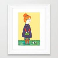redhead Framed Art Prints featuring Redhead by Ana Albero