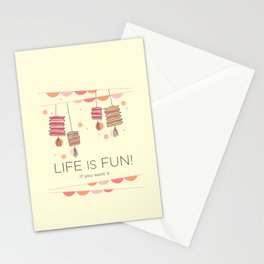 life is fun Stationery Cards