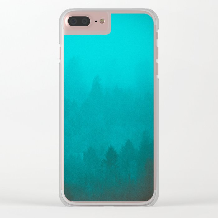 PNW Fog Forest Clear iPhone Case