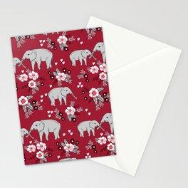 Alabama university crimson tide elephant pattern college sports alumni gifts Stationery Cards