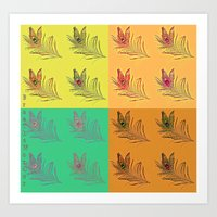 popart Art Prints featuring Feathers PopART by UnifiedGlory