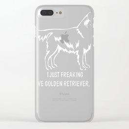 Golden-Retriever-tshirt,-just-freaking-love-my-Golden-Retriever. Clear iPhone Case