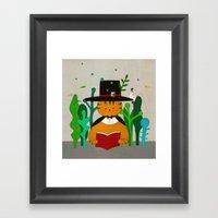 Wizard Cat Framed Art Print