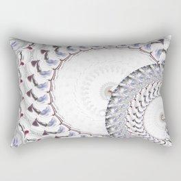 Geometric - Fractal Nautius Scared Geometry Blue White Rectangular Pillow