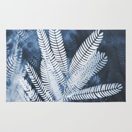 Indigo Leaves Rug