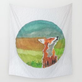 Rounded fox Wall Tapestry
