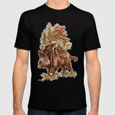 Boar of the Woods Black LARGE Mens Fitted Tee